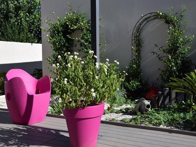 Amenagement jardin baillargues paysagiste jardin m diterran en for Jardin amenage