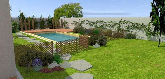Jardin de particulier paysagiste jardin montpellier for Deco jardin paysagiste