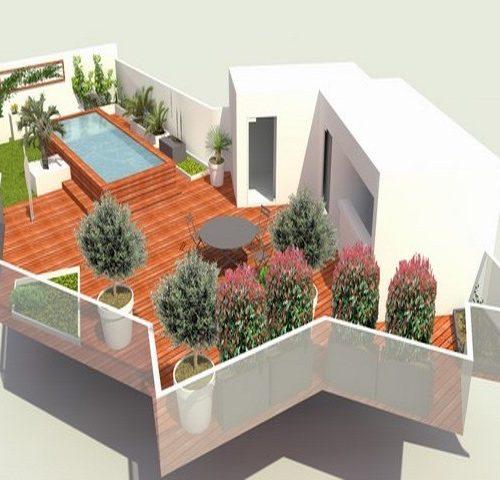 Plan amenagement terrasse