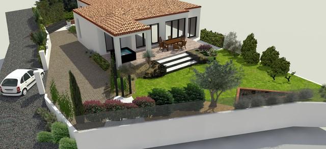 jardin de particulier paysagiste jardin montpellier. Black Bedroom Furniture Sets. Home Design Ideas
