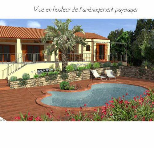 jardin méditerranéen concept