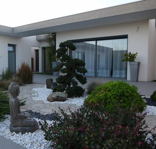 Jardin japonais bordure jardin