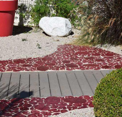 Amenagement exterieur Red garden