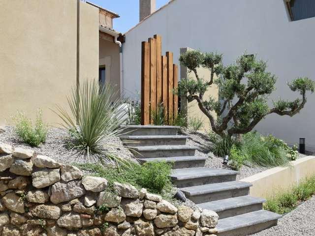Deco jardin oasis moderniste