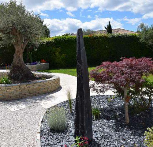 Jardin zen méditerannéen