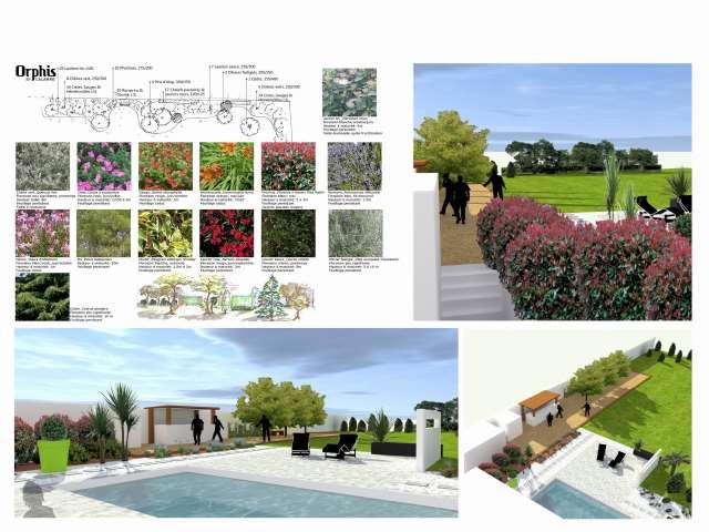 Cr ations en 3d orphis paysagiste sp cialiste de la deco for Deco jardin paysagiste