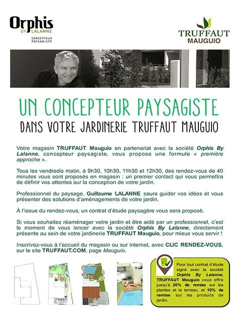 Orphis chez Truffaut Mauguio  proposition amenagement jardin