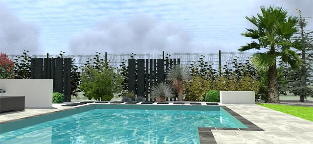 Projet d\'aménagement extérieur jardin avec piscine Castrie ...