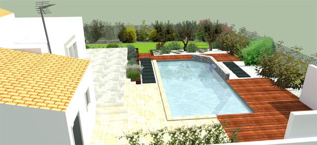 Projet d am nagement ext rieur jardin avec piscine baillargues paysagiste jardin orphis - Amenagement jardin avec piscine ...