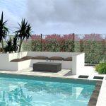 Projet d'aménagement extérieur jardin avec piscine Montpellier