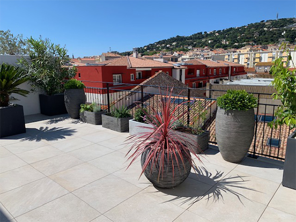 Aménagement d'une terrasse à Sète