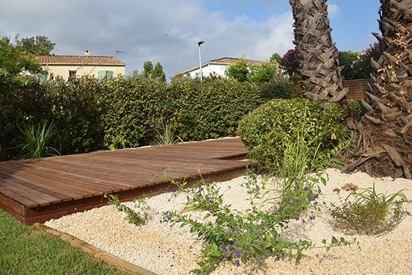 Aménagement global d'un jardin méditerranéen à Montpellier