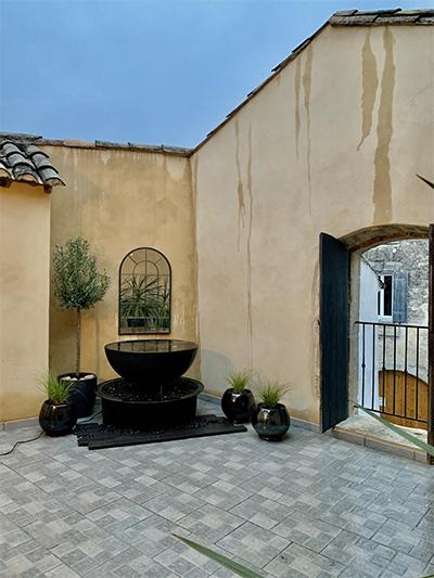 Terrasse complémentaire aménagée à Congénies