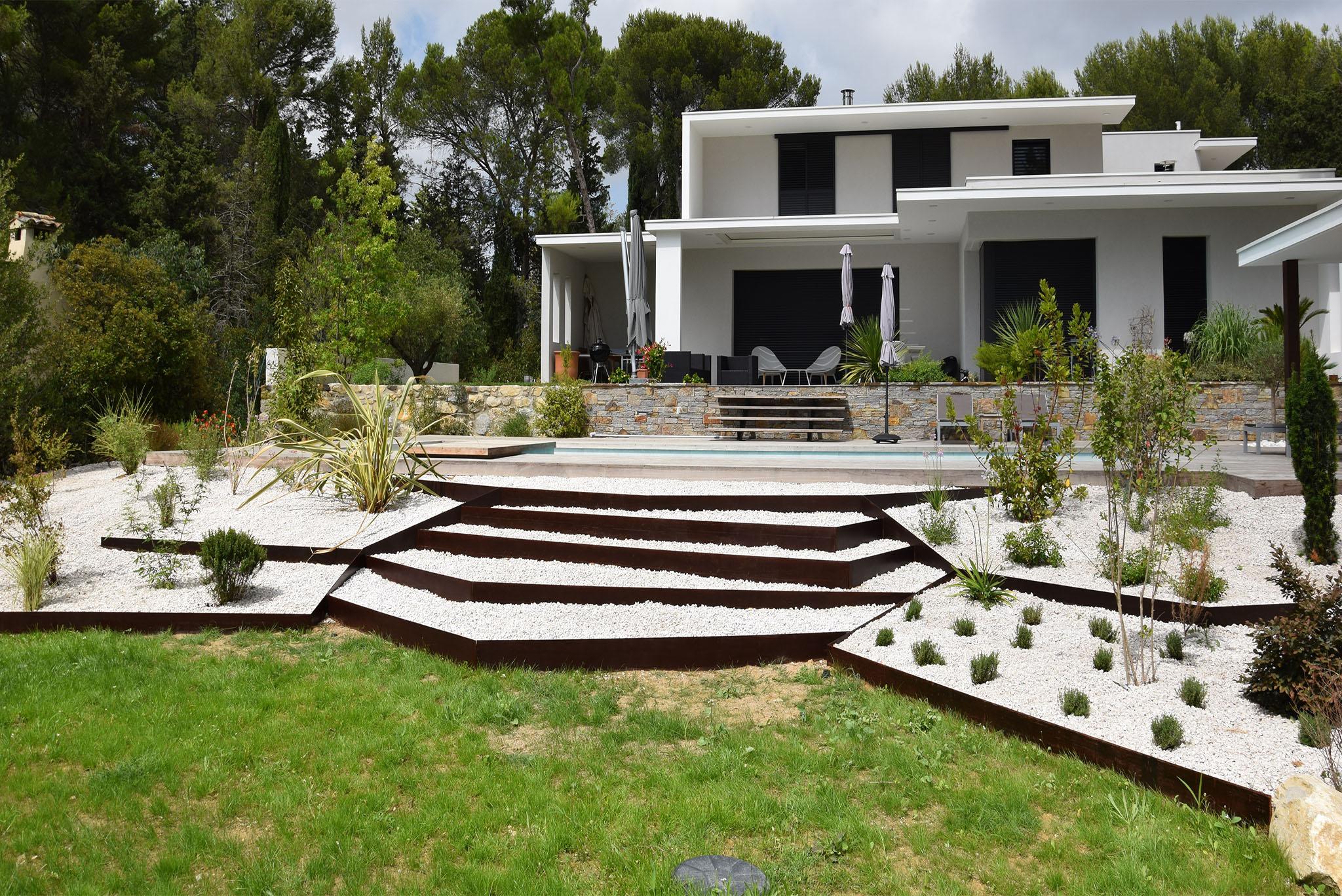 Amenagement Jardin Exterieur Photo paysagiste montpellier amenagement jardin decoration jardin